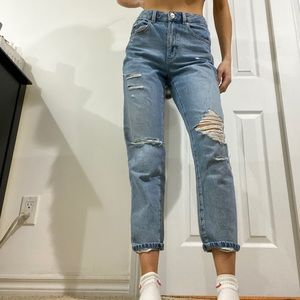 Garage Ripped Mom Jeans